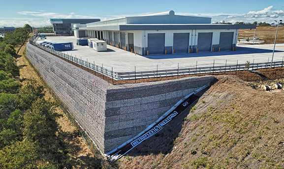 Geofabrics New Zealand Metroplex West Retaining Wall case study