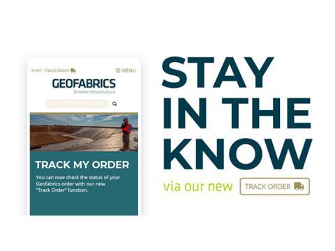 Track My Order_Geofabrics_web page